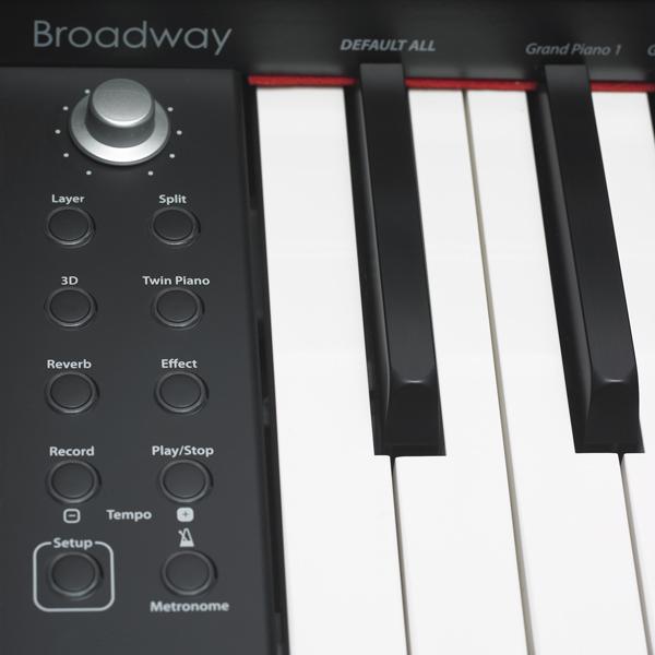 Broadway B1 Dark Rosewood Control Panel