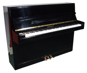 Broadway BU-109 Silent Piano in polished ebony